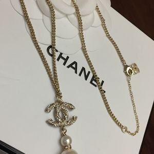 Authentic Chanel Crystal Pearl Necklace